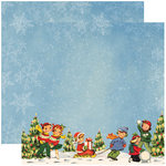 Reminisce - Dear Santa Collection - Christmas - 12 x 12 Double Sided Paper - Winter Wonderland