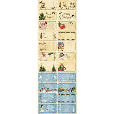 Reminisce - Dear Santa Collection - Christmas - Cardstock Stickers - Tickets and Tags