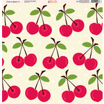 Ella and Viv Paper Company - Cherry Blast Collection - 12 x 12 Paper - Four