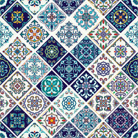 Ella and Viv Paper Company - Spice Market Collection - 12 x 12 Paper - Azulejo