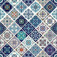 Ella and Viv Paper Company - Spice Market Collection - 12 x 12 Paper - Azulejo