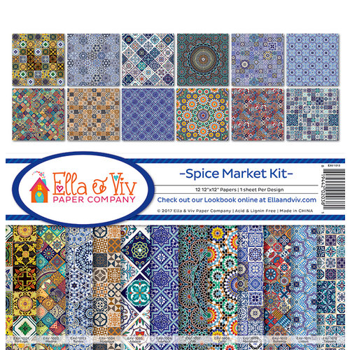 Ella and Viv Paper Company - Spice Market Collection - 12 x 12 Collection Kit