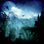 Ella and Viv Paper Company - Dark Hallow Collection - Halloween - 12 x 12 Paper - The Witch's Escape