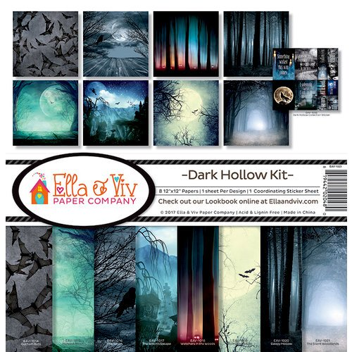 Ella and Viv Paper Company - Dark Hallow Collection - Halloween - 12 x 12 Collection Kit