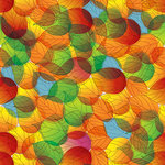 Ella and Viv Paper Company - Autumn Inspired Collection - 12 x 12 Paper - Kaleidoscope of Colors