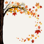 Ella and Viv Paper Company - Autumn Inspired Collection - 12 x 12 Paper - Dancing Leaves