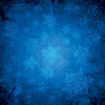 Ella and Viv Paper Company - Blue Christmas Collection - 12 x 12 Paper - Cerulean Snow
