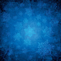Ella and Viv Paper Company - Blue Christmas Collection - 12 x 12 Paper - Cerulean Blue