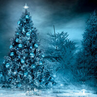Ella and Viv Paper Company - Blue Christmas Collection - 12 x 12 Paper - Blue Christmas
