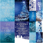 Ella and Viv Paper Company - Blue Christmas Collection - 12 x 12 Cardstock Stickers - Poster