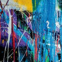 Ella and Viv Paper Company - Graffiti Collection - 12 x 12 Paper - Paint Drip