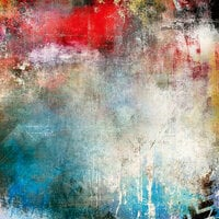 Ella and Viv Paper Company - Graffiti Collection - 12 x 12 Paper - Red, White, and Blue