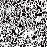 Ella and Viv Paper Company - Graffiti Collection - 12 x 12 Paper - Black & White