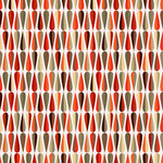 Ella and Viv Paper Company - Mid Century Modern Collection - 12 x 12 Paper - Tear Drop