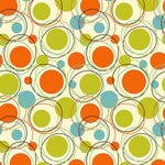 Ella and Viv Paper Company - Mid Century Modern Collection - 12 x 12 Paper - Circles