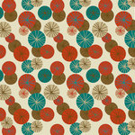 Ella and Viv Paper Company - Mid Century Modern Collection - 12 x 12 Paper - Umbrella