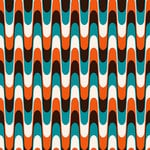 Ella and Viv Paper Company - Mid Century Modern Collection - 12 x 12 Paper - Wavy