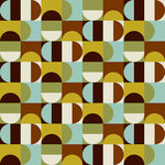 Ella and Viv Paper Company - Mid Century Modern Collection - 12 x 12 Paper - Geometric