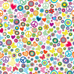 Ella and Viv Paper Company - Groovy Collection - 12 x 12 Paper - Flower Power