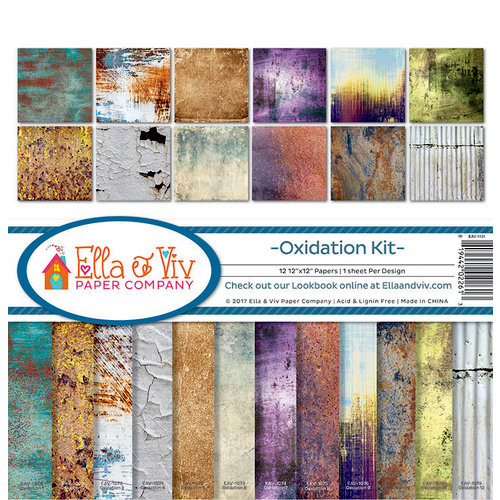 Ella and Viv Paper Company - Oxidation Collection - 12 x 12 Collection Kit