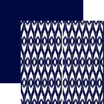 Ella and Viv Paper Company - IKat Collection - 12 x 12 Double Sided Paper - Blue Beach