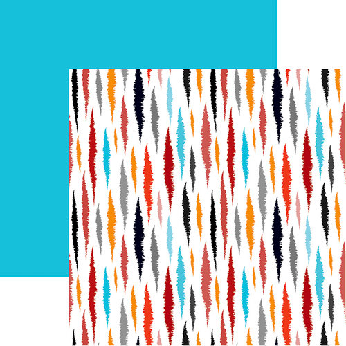 Ella and Viv Paper Company - IKat Collection - 12 x 12 Double Sided Paper - Rainbow