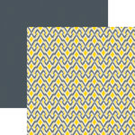 Ella and Viv Paper Company - IKat Collection - 12 x 12 Double Sided Paper - Criss Cross