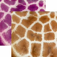 Ella and Viv Paper Company - Animal Kingdom Collection - 12 x 12 Double Sided Paper - Giraffe