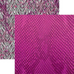 Ella and Viv Paper Company - Animal Kingdom Collection - 12 x 12 Double Sided Paper - Pink Python