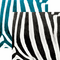 Ella and Viv Paper Company - Animal Kingdom Collection - 12 x 12 Double Sided Paper - Zebra