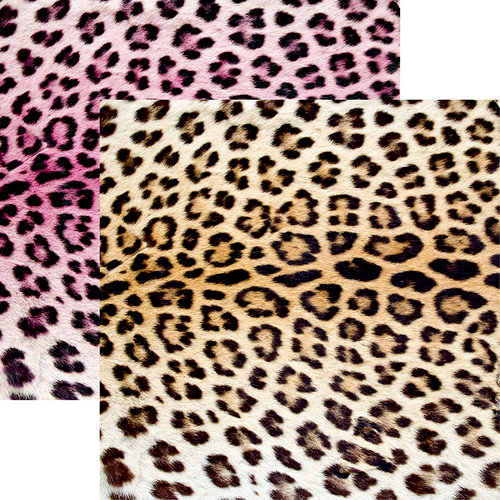 Ella and Viv Paper Company - Animal Kingdom Collection - 12 x 12 Double Sided Paper - Leopard