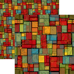 Ella and Viv Paper Company - Stained Glass Collection - 12 x 12 Double Sided Paper - Stained Glass