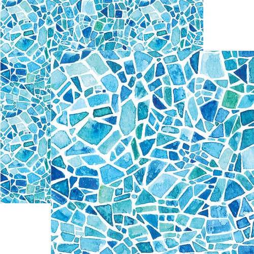 Ella and Viv Paper Company - Stained Glass Collection - 12 x 12 Double Sided Paper - Watercolor