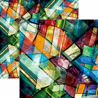Ella and Viv Paper Company - Stained Glass Collection - 12 x 12 Double Sided Paper - My Church