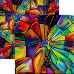 Ella and Viv Paper Company - Stained Glass Collection - 12 x 12 Double Sided Paper - Goblin Glass