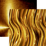 Ella and Viv Paper Company - Precious Collection - 12 x 12 Double Sided Paper - Liquid Gold