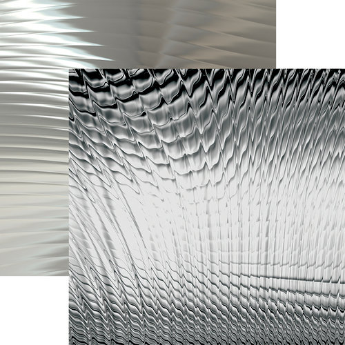 Ella and Viv Paper Company - Precious Collection - 12 x 12 Double Sided Paper - Silver Ware