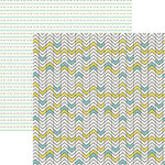 Ella and Viv Paper Company - Bohemian Collection - 12 x 12 Double Sided Paper - Boho Chevron