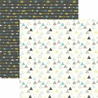 Ella and Viv Paper Company - Bohemian Collection - 12 x 12 Double Sided Paper - Boho Triangles Too