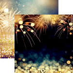 Ella and Viv Paper Company - Happy Birthday Collection - 12 x 12 Double Sided Paper - Birthday Fireworks