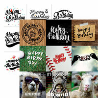 Ella and Viv Paper Company - Happy Birthday Collection - 12 x 12 Double Sided Paper - Happy Birthday to You