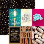 Ella and Viv Paper Company - Happy Birthday Collection - 12 x 12 Double Sided Paper - Birthday Cards 1
