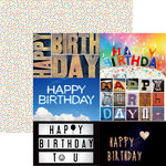 Ella and Viv Paper Company - Happy Birthday Collection - 12 x 12 Double Sided Paper - Birthday Cards 2