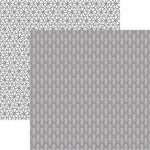 Ella and Viv Paper Company - 50 Shades Collection - 12 x 12 Double Sided Paper - Fishbone