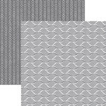 Ella and Viv Paper Company - 50 Shades Collection - 12 x 12 Double Sided Paper - Wavy