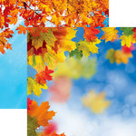 Ella and Viv Paper Company - Hello Fall Collection - 12 x 12 Double Sided Paper - Hello Fall