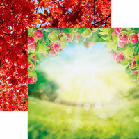 Ella and Viv Paper Company - Hello Fall Collection - 12 x 12 Double Sided Paper - Apple Orchard