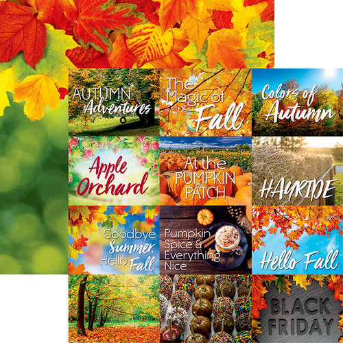 Ella and Viv Paper Company - Hello Fall Collection - 12 x 12 Double Sided Paper - Fall Fun