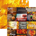 Ella and Viv Paper Company - Hello Fall Collection - 12 x 12 Double Sided Paper - Thanksgiving