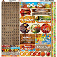 Ella and Viv Paper Company - Hello Fall Collection - 12 x 12 Cardstock Stickers - Alpha